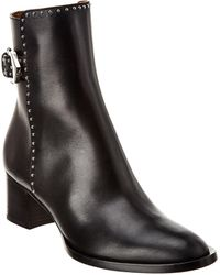 Givenchy Ankle Boots Be601d40 Calfskin Logo Rivets Black