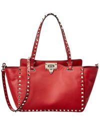 Valentino - Rockstud Leather Tote - Lyst