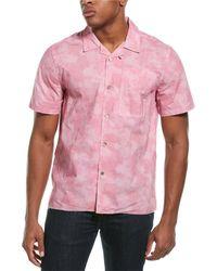 Ovadia Sunwash Beach Woven Shirt - Pink