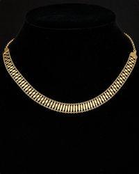 Argento Vivo - 18k Over Silver Wide Woven Pattern Adjustable Choker Necklace - Lyst