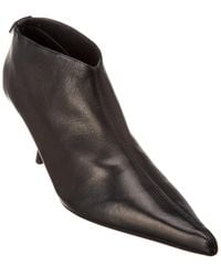 The Row Bourgeoise Leather Bootie - Black
