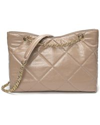 Tiffany & Fred Quilted Sheepskin Tote Bag - Natural