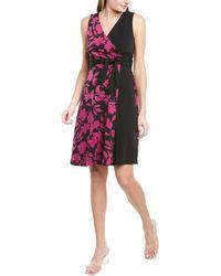 Donna Morgan Tie-waist Midi Dress - Purple