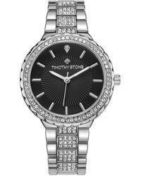 Timothy Stone 'gala' Crystal Adorned Bezel Bracelet Watch - Metallic