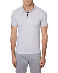 Hickey Freeman 4 Button Polo Shirt - White