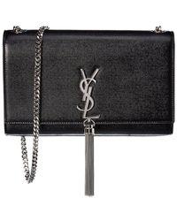 Saint Laurent Kate Tassel Medium Leather Shoulder Bag - Black