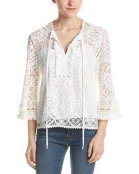 Nanette Lepore Delicate Lace Top - White