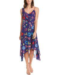 Parker Pippy Silk-blend Midi Dress - Blue