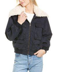 Young Fabulous & Broke Earhart Jacket - Blue