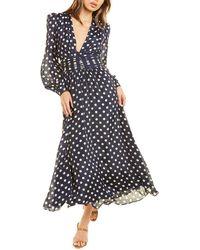 Ronny Kobo Maria Silk-blend Maxi Dress - Blue