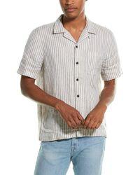 FRAME Denim Camp Linen Shirt - White