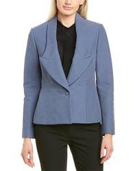 Partow Live Wool-blend Blazer - Blue