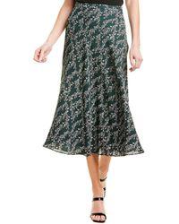 BCBGMAXAZRIA Floral Midi Skirt - Gray