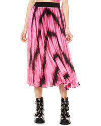 Alice + Olivia Katz Sunburst Midi Skirt - Pink