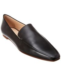 The Row Minimal Leather Loafer - Black