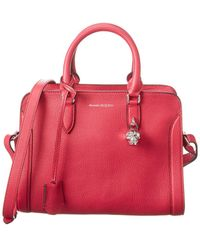 Alexander McQueen Padlock Zip Small Leather Shoulder Bag - Pink
