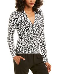 Theory Leopard Cardigan - White