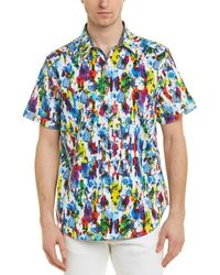 Robert Graham Azimuth Woven Shirt - Blue