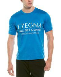 Ermenegildo Zegna Z Graphic T-shirt - Blue