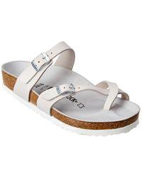 Birkenstock Mayari Nubuck Leather Sandal - White