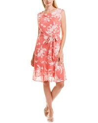 Sandra Darren Lace Shift Dress - Red