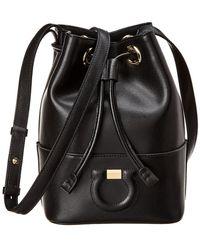 Ferragamo - Gancini City Leather Bucket Bag - Lyst 51e48f629533a