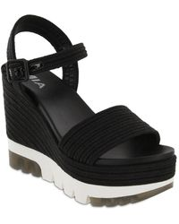 MIA Nakita Platform Wedge Sandal - Black