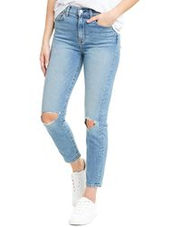 7 For All Mankind 7 For All Mankind Rose Ave High-rise Ankle Skinny Leg Jean - Blue