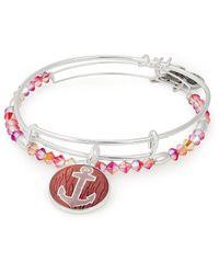 ALEX AND ANI - Art Infusion, Anchor Set Of 2 Bracelet (shiny Silver) Bracelet - Lyst