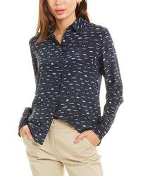 Max Mara Weekend Banfy Silk Shirt - Blue