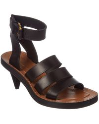 fe0e96cd802 Lyst - Louis Vuitton Leather Ankle-strap Sandals Brown in Gray