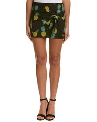 Lea & Viola - Tie-front Mini Skirt - Lyst