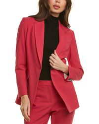 Theory Etiennette Wool-blend Blazer - Red