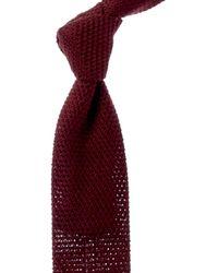 Reiss Jackson Bordeaux Silk Tie - Red