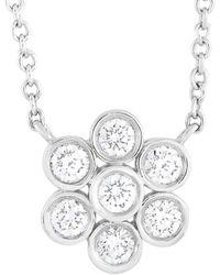 Heritage Tiffany & Co. Tiffany & Co. Platinum 0.25 Ct. Tw. Diamond Necklace - Metallic