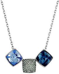 Swarovski Crystal Rhodium Plated Necklace - Blue