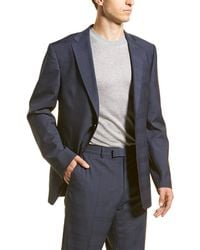 Ermenegildo Zegna Z Wool Suit With Flat Front Pant - Blue