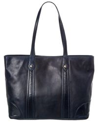 Frye Melissa Leather Shopper Tote - Blue