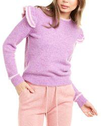 Generation Love Brynlee Alpaca & Wool-blend Sweater - Purple