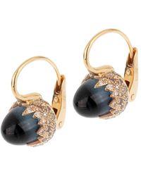 Pomellato 18k Rose Gold 10.40 Ct. Tw. Diamond & Blue Topaz Earrings - Multicolour