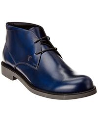 Tod's Leather Boot - Blue