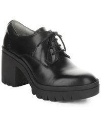 Fly London Tain Leather Oxford - Black