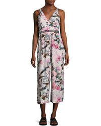Plenty by Tracy Reese Floral Print Gathered Jumpsuit - Multicolour
