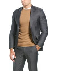 Brioni Wool & Mohair-blend Suit With Flat Front Pant - Gray