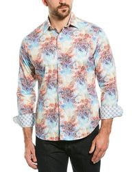 Robert Graham Bakemeyer Classic Fit Woven Shirt - Blue