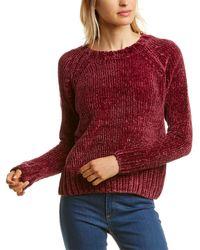 525 America Bouncy Chenille Pullover - Purple