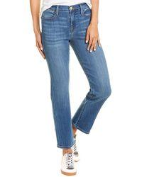 FRAME Denim Le High Blue Straight Leg Jean