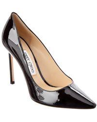 Jimmy Choo Romy 85 Velvet Court Shoes - Black