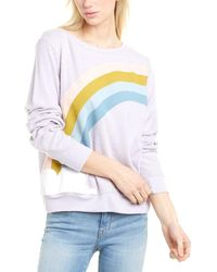 Wildfox Color Cloud Baggy Beach Sweater Sweatshirt - White