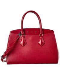 Louis Vuitton - Purple Epi Leather Soufflot Mm - Lyst